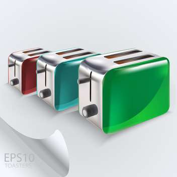 Realistic vector colorful toasters collection - vector gratuit(e) #129494