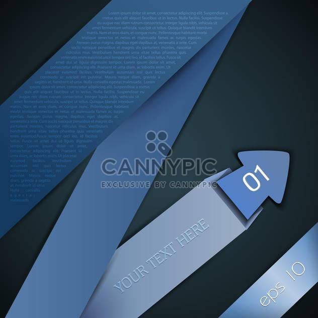 Abstract vector brochure design background with folded blue origami arrow - Free vector #129554