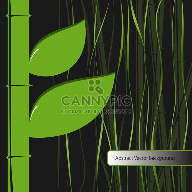 Vektor-Hintergrund mit grünen Bambusblätter - Free vector #129604