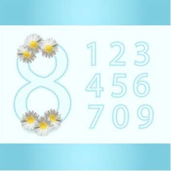 Vector blue 8 march floral background - Free vector #129754