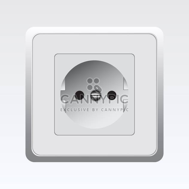 vector illustration of white socket on white background - Free vector #129834