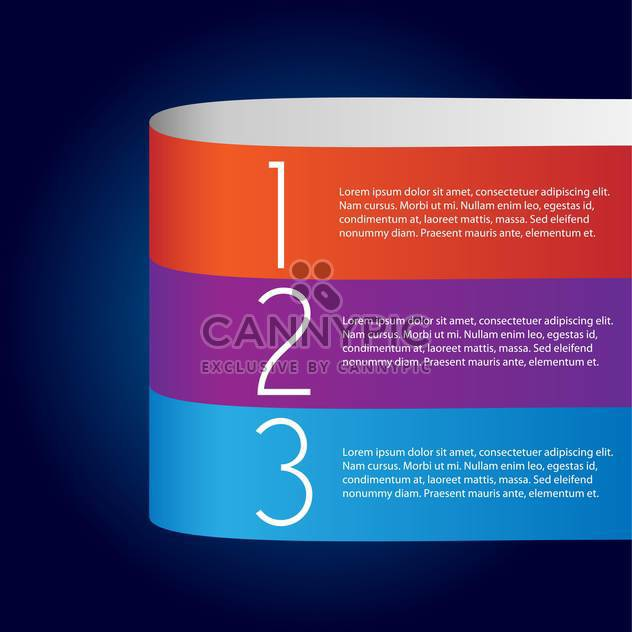 Vector infographic banner background with numbers - Free vector #129864