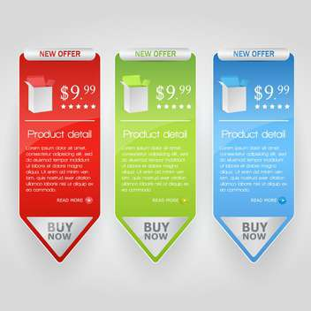 Three new offer vector arrow banners - vector gratuit #129894