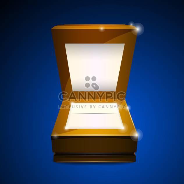Vektor-Illustration von offenen Holzkiste auf blauem Hintergrund - Kostenloses vector #129944
