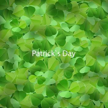 Clover background for St Patricks Day - Kostenloses vector #129964