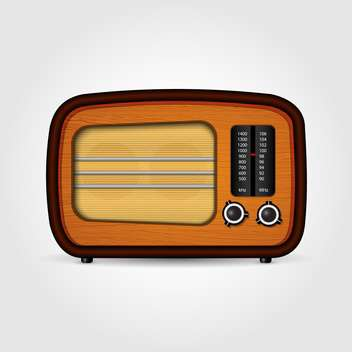 Vector illustration of realistic retro radio isolated - vector gratuit #130034