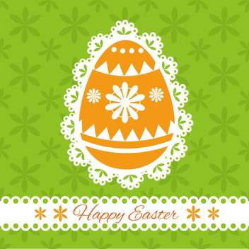 Easter greeting card with decorative egg and place for text - vector gratuit #130044