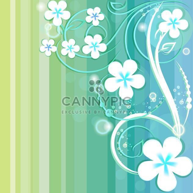 Gestreiften Hintergrund mit floralen Elementen - Free vector #130054