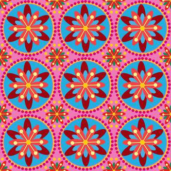 Colorful vector floral ornament - Free vector #130064
