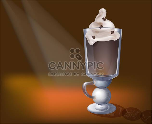 Vector illustration of cappuccino in glass - Free vector #130204