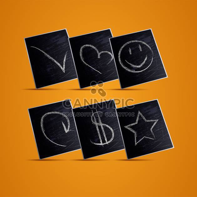 Vektor-Illustration von Tafel-Ikonen-Hintergrund - Free vector #130254