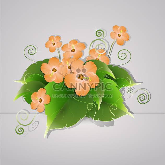 vector summer blooming flowers - Free vector #130314