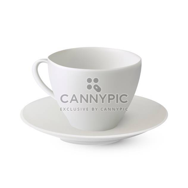 vector teacup on saucer illustration - Free vector #130324