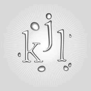 Vector water letters K, J, L - Free vector #130364