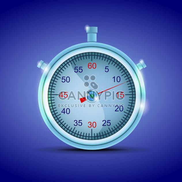 Vector stopwatch on blue background - Free vector #130424
