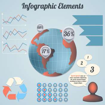 Collection of vector infographic elements - Free vector #130434