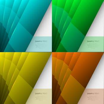 Set with multicolored banners, vector Illustration - Free vector #130454