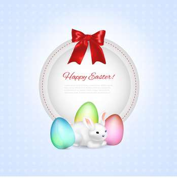 Easter greeting vector frame - бесплатный vector #130474