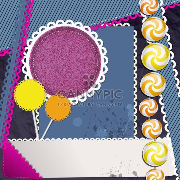 vector scrapbook elements background - Free vector #130484
