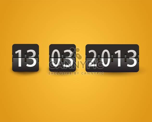 Kalender-Vektor-Illustration kippen - Free vector #130504