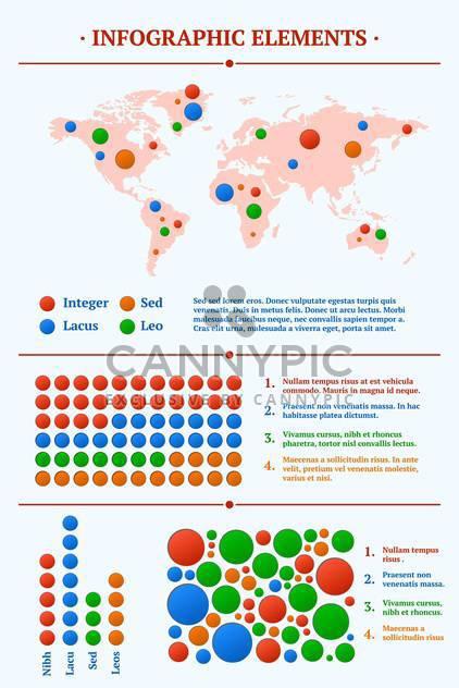 Vektor-Illustration von Infographik mit Karte und Punkten - Kostenloses vector #130544