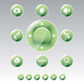 round shaped mobile phone menu icons - vector gratuit #130644