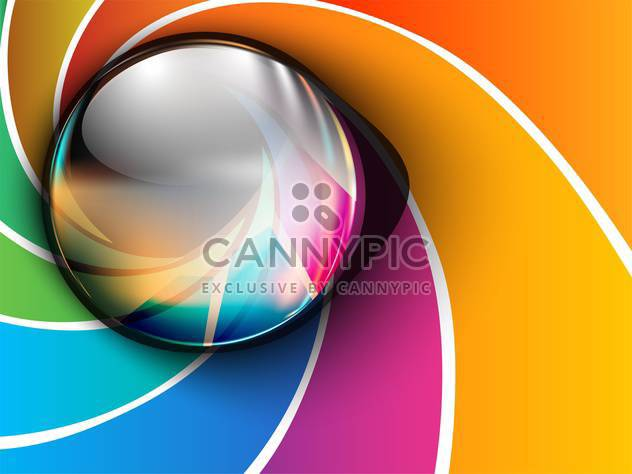 Abstract vector glossy icon on colorful background - Free vector #130684