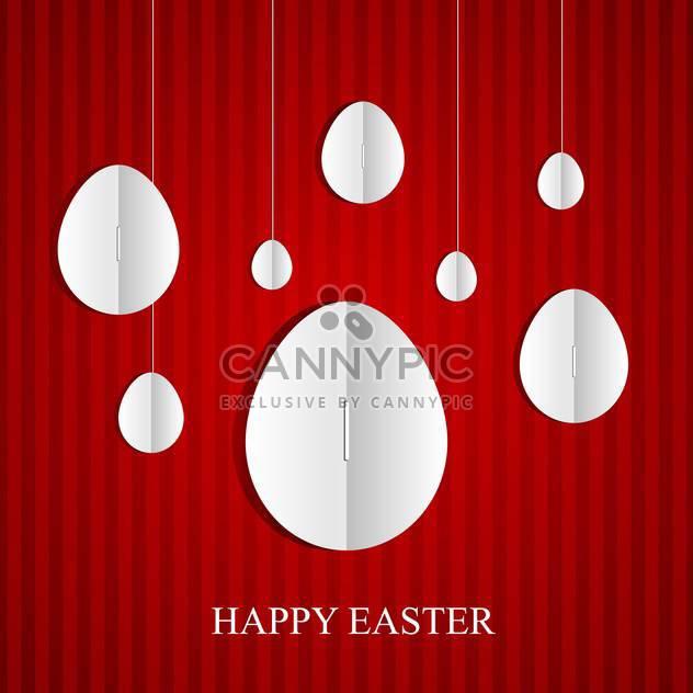 Osterkarte mit weiße Eier auf rotem Hintergrund - Kostenloses vector #130824