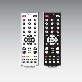 TV remote controls on grey background - vector gratuit #130914