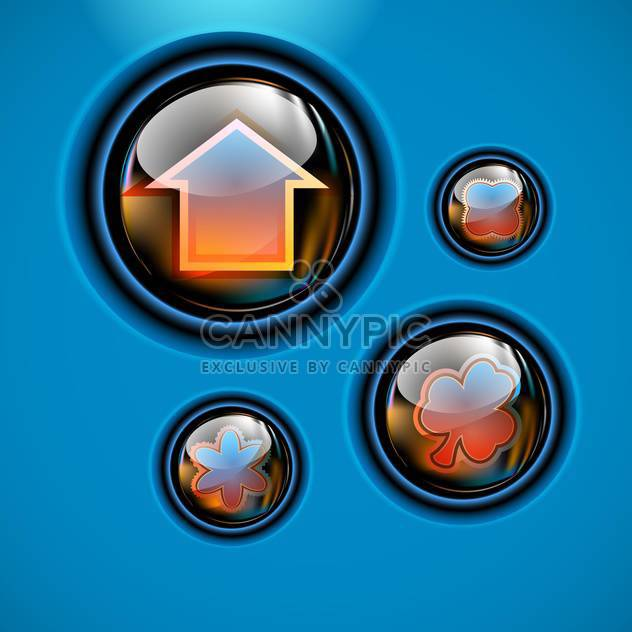 Set of various web signs vector illustration - Free vector #130944