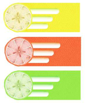 Citrus background vector illustration - vector gratuit(e) #130994