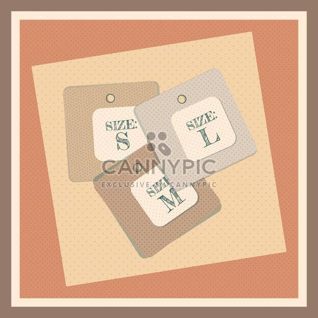 Retro style size tag vector illustration - Free vector #131014