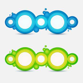 Circle frames on white background - vector gratuit #131074
