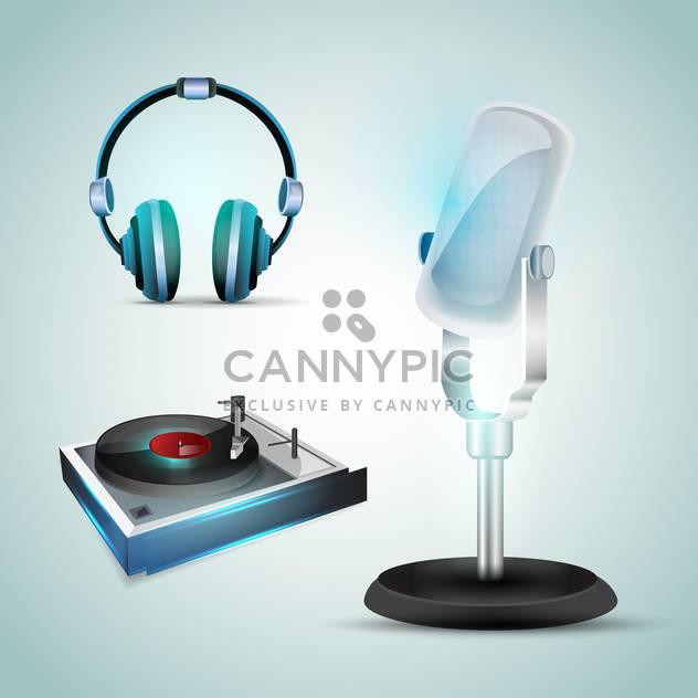 Audio-Tools Vektor Symbole - Kostenloses vector #131084
