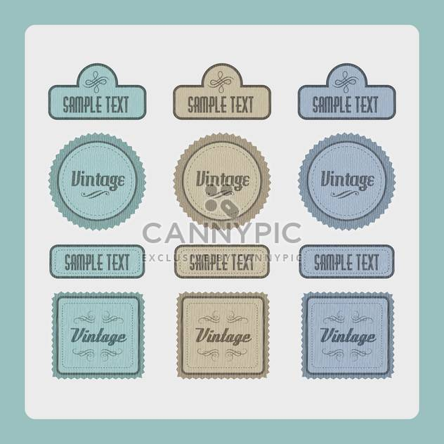 Vector set of vintage labels - Free vector #131114