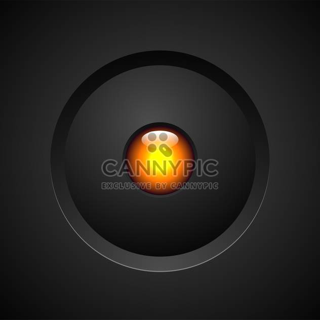 Vector orange button on black background - Free vector #131164