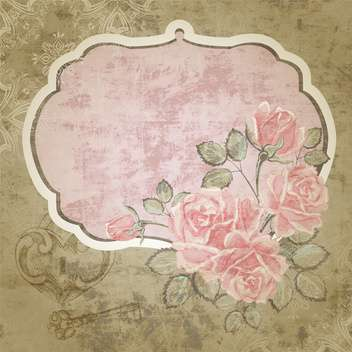 Floral vector background with vintage frame - vector gratuit #131204