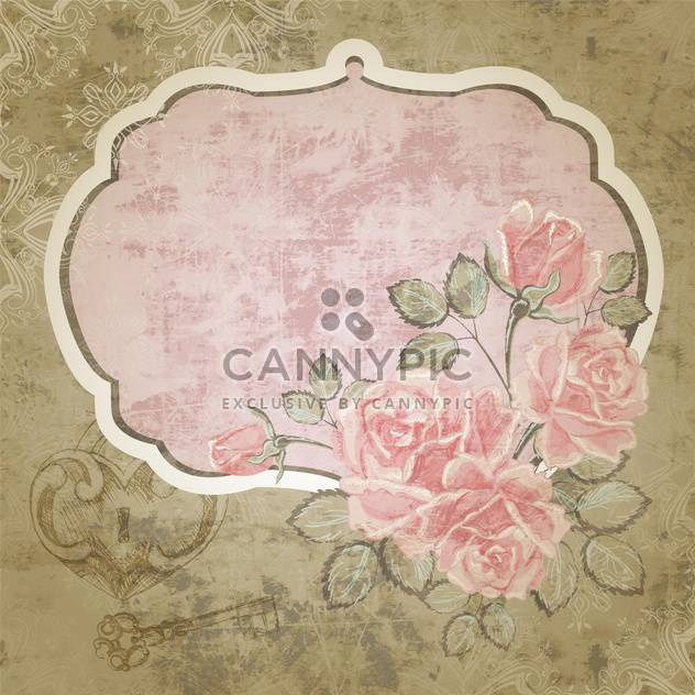 Floral vector background with vintage frame - Free vector #131204