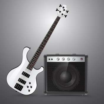 Bass guitar and combo ector illustration. - vector gratuit #131214