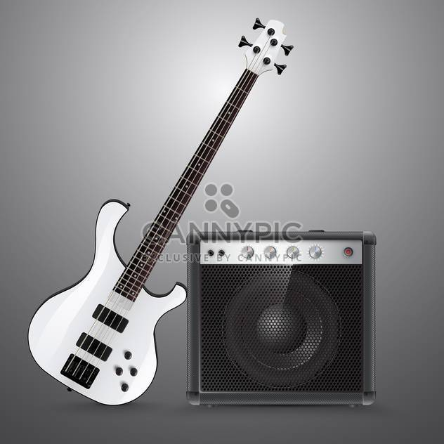 Bass guitar and combo ector illustration. - Free vector #131214