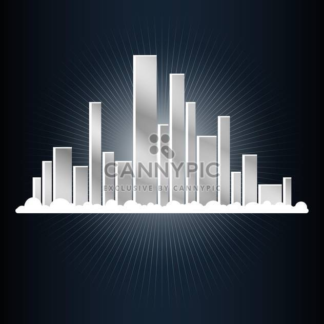 Abstract city vector illustration - Free vector #131244