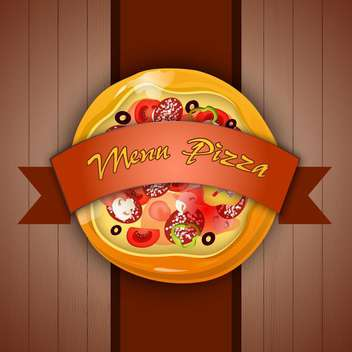Design menu with pizza vector illustration - Kostenloses vector #131274