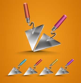 Vector set of construction trowels - Free vector #131294
