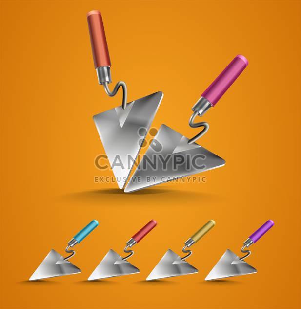 Vector set of construction trowels - Free vector #131294