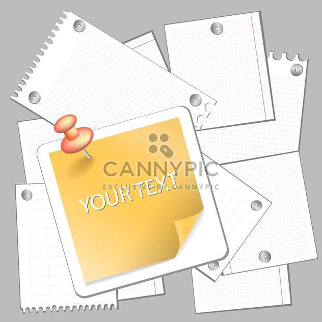 Collectionn of paper stickers vector illustration - Free vector #131344