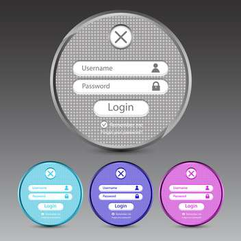 Set of vector login forms on grey background - бесплатный vector #131374