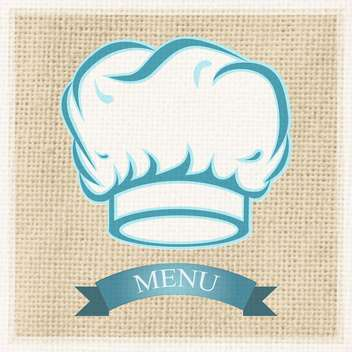 Chef cap on the menu card - vector gratuit #131384