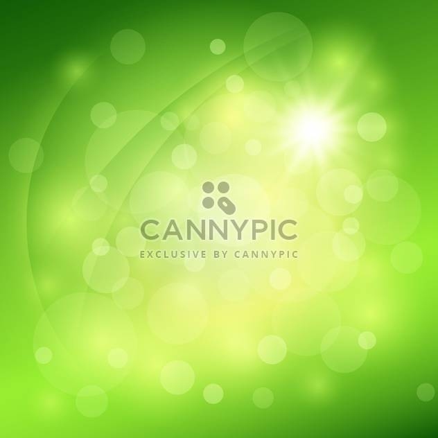 Abstract green vector background with bokeh - Free vector #131424