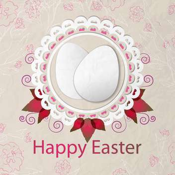 Happy Easter background vector illustration - vector gratuit #131454