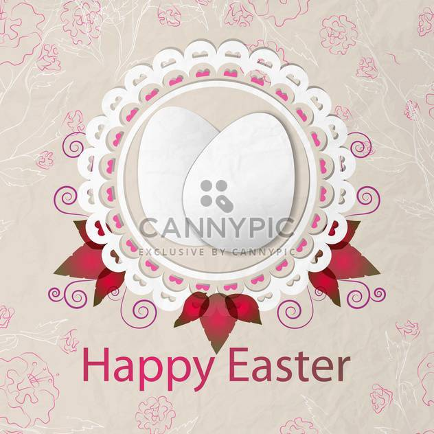 Happy Easter background vector illustration - Free vector #131454